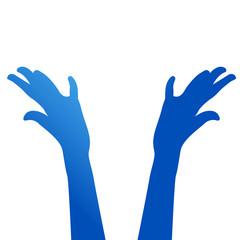 mani, comunità, colori, mani, braccia, colorate