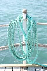 Rettungsseil am Meer