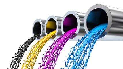 CMYK color concept