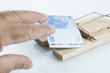 piège souris avec argent