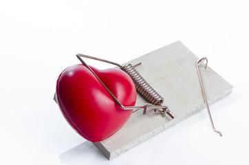 piège souris avec coeur