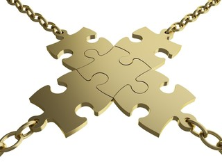 Chain. 3D. Business Links II