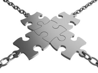 Chain. 3D. Business Links III