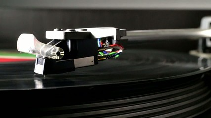Record player closeup.