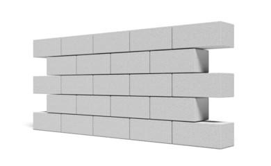 Brick. 3D. 3D Rendered Wall