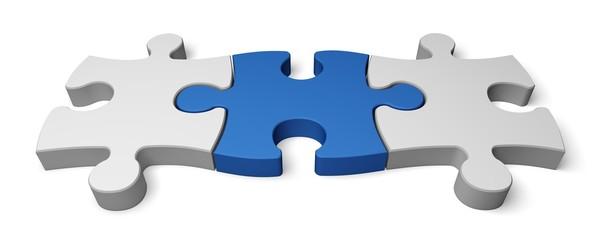 Puzzle. 3D. Three Puzzles