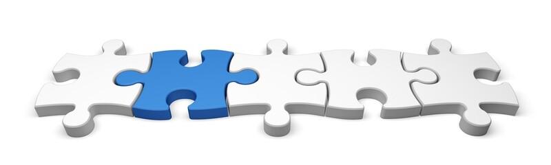 Puzzle. 3D. Puzzle Connection