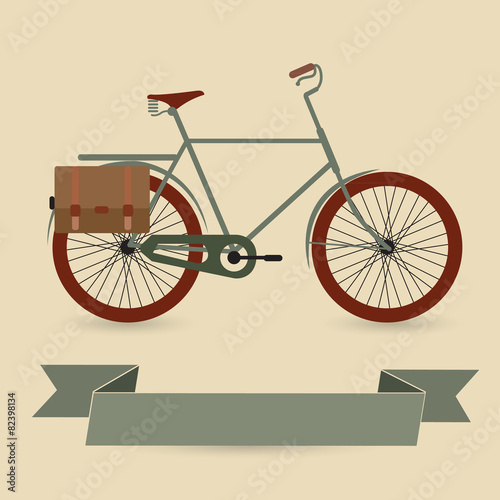 Foto op Canvas Scooter Bike vector icon