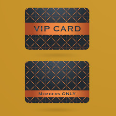 Vip cards with the abstract background