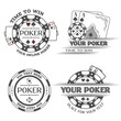 Set poker emblems. - 82399397