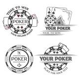 Set poker emblems.
