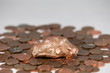 Copper Nugget and Pennies with Selective Focus on the Nugget - 82400152