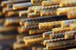 canvas print picture - construction metallic bars