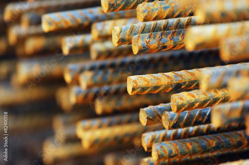 Foto op Canvas Metal construction metallic bars