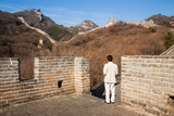 A Man visited the Great Wall