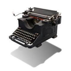 vecchia macchina da scrivere sospesa