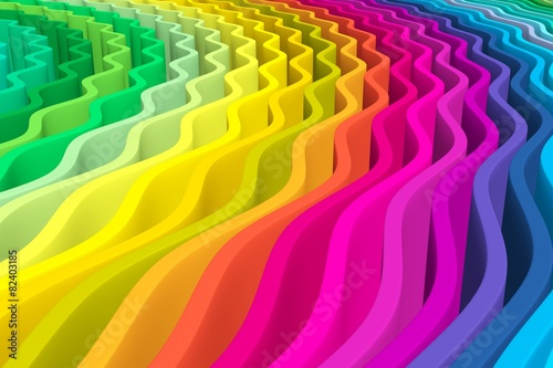 abstract background with lines wave color © profit_image