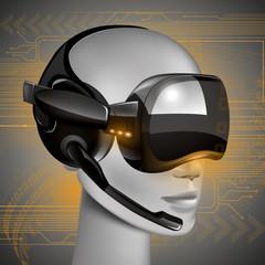 Virtual Headset vector