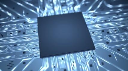 Big data chip background intro