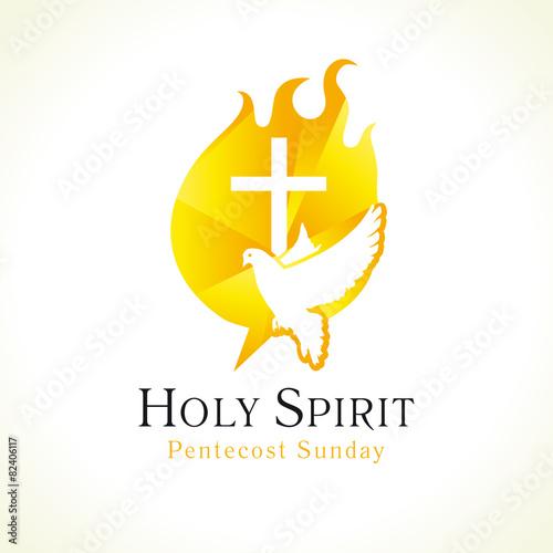 Zdjęcia na płótnie, fototapety, obrazy : Holy Spirit logo