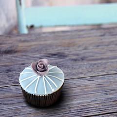 blauer cupcake