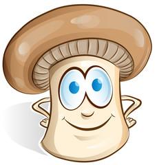 mushroom cartoon isolated on white background