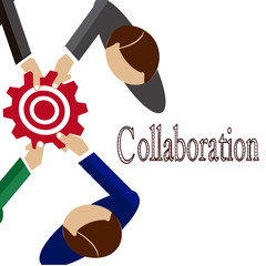 collaboration people illustration over white color background