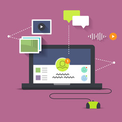social networking and media sharing