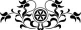 Rozeta góralska z liliami - 82410918
