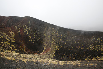 Scenery and craters of Mt. Etna volcano