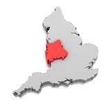 West Midlands region in England poster