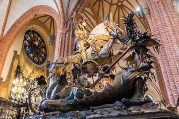 St George killing a dragon