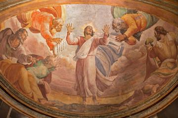 Rome - Transfiguration on the mount Tabor fresco