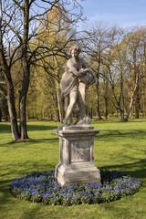 Warsaw.Lazienki(Bath)Royal Park.Sculpture dawn