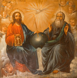 Jerusalem - Holy Trinity painting from  Holy Sepulchre Basilica