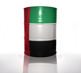 barrel with united arab emirates flag