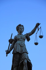 Justitia in Frankfurt, Germany