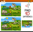 finding differences game cartoon - 82418352