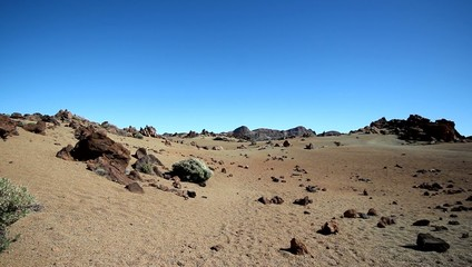 Surreal landscape - volcano crater / desert valley -  Teide