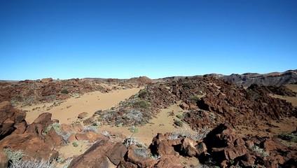 Surreal landscape - Vulcano crater - desert valley -  Teide
