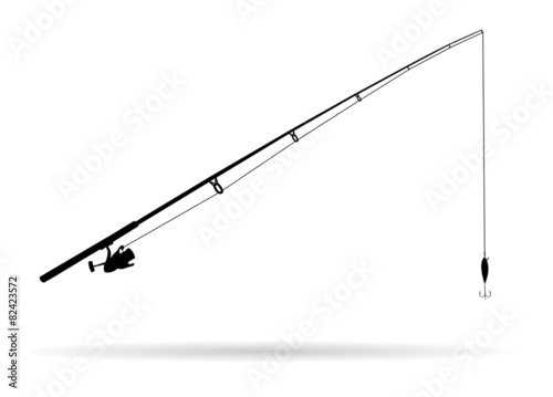 Fototapeta Fishing rod - Illustration
