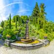 Leinwanddruck Bild - Italienische Wassertreppe Insel Mainau