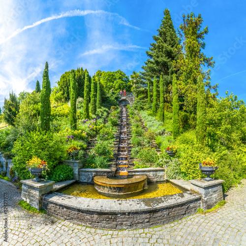 Fotobehang Fontaine Italienische Wassertreppe Insel Mainau