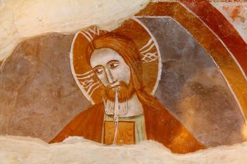 Gesù soffia lo Spirito; cripta del Duomo di Treviso