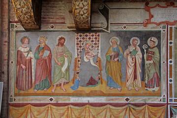 Madonna in trono e santi; affresco, chiesa San Nicolò, Treviso