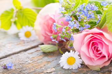 Glückwunschkarte mit Blumen