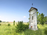 old small chapel on a meadow