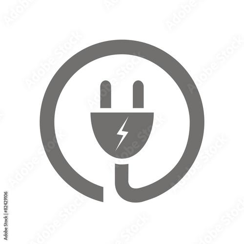 Zdjęcia na płótnie, fototapety, obrazy : Icono enchufe eléctrico circular FB