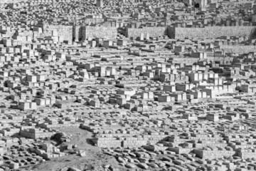 Jerusalem - The jewish cemetery on the Mount of Olives.