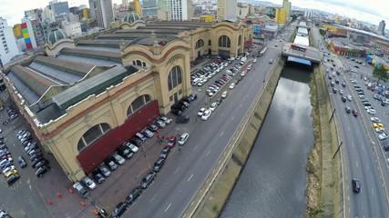 Aerial View from Mercado Municipal in Sao Paulo, Brazil